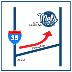 Directions to Mel's Lone Star Lanes